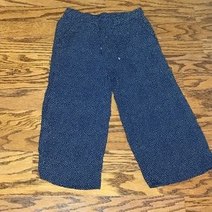 H&M Navy Polka Dot Drawstring Lounge Pants